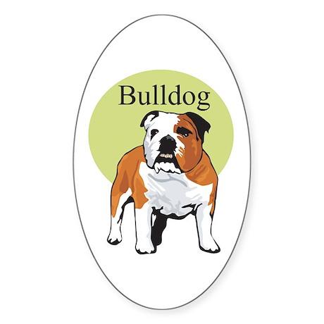Bulldog Title Oval Sticker