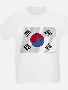 Pure Flag of Korea Kids T-Shirt