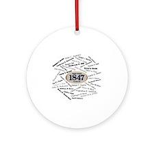 West Point - 1847 Round Ornament