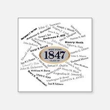 "West Point - 1847 Square Sticker 3"" x 3"""