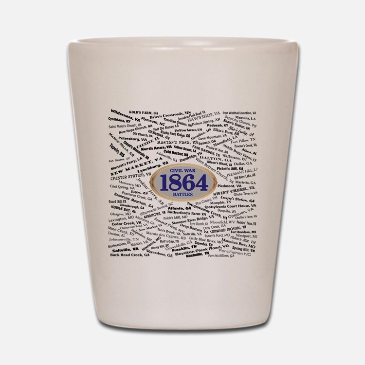 Battles - 1864 Shot Glass