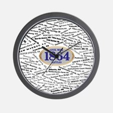 Battles - 1864 Wall Clock