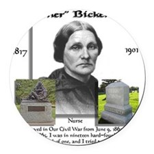 Mother_Bickerdyke Round Car Magnet