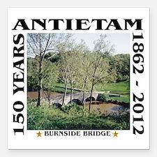 """Burnside Bridge - Antiet Square Car Magnet 3"""" x 3"""""""