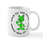 Talk To The Hand Alien Mug