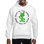 Talk To The Hand Alien Hooded Sweatshirt