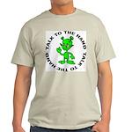 Talk To The Hand Alien Ash Grey T-Shirt
