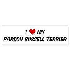 I Love: Parson Russell Terrie Bumper Bumper Sticker