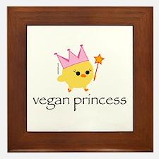 Vegan Princess Framed Tile