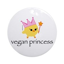 Vegan Princess Ornament (Round)