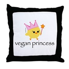 Vegan Princess Throw Pillow
