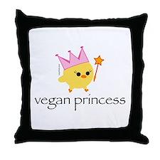 Vegan Princess Throw Pillow
