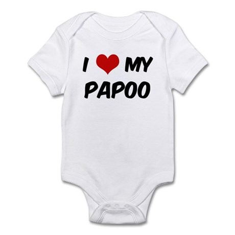 I Love: Papoo Infant Bodysuit