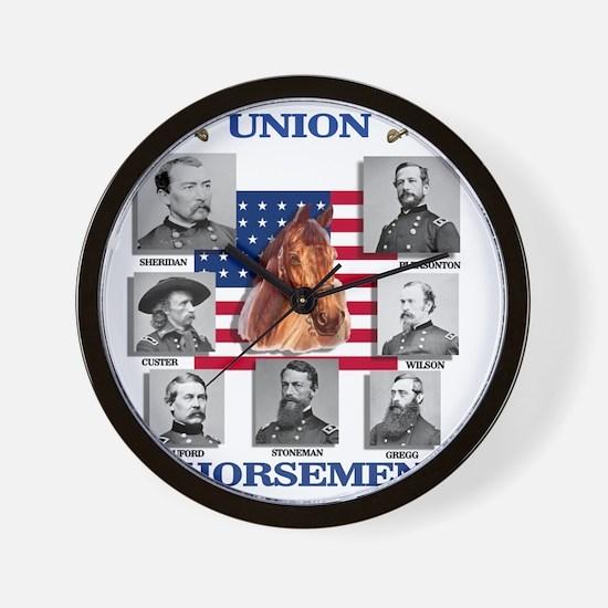 Union Horsemen Wall Clock
