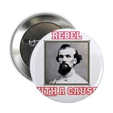 """Rebel With a Cause - Forrest 2.25"""" Button"""