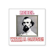 "Rebel With a Cause - Forres Square Sticker 3"" x 3"""