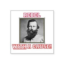 "Rebel With a Cause - Stuart Square Sticker 3"" x 3"""