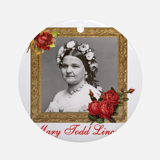 Mary Todd Lincoln Round Ornament