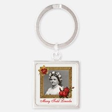 Mary Todd Lincoln Square Keychain