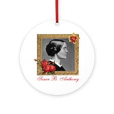 Susan B. Anthony Round Ornament