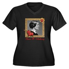 Susan B. Ant Women's Plus Size Dark V-Neck T-Shirt