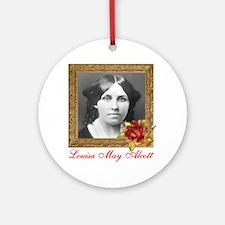 Louisa May Alcott Round Ornament