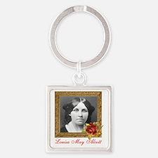Louisa May Alcott Square Keychain