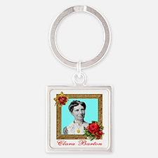 Clara Barton - Nurse Square Keychain