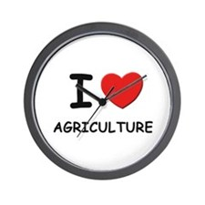 I love agriculture Wall Clock