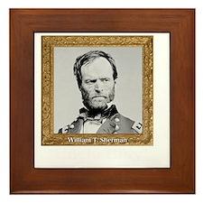Uncle Billy Sherman Framed Tile
