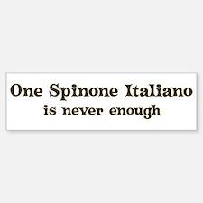 One Spinone Italiano Bumper Car Car Sticker