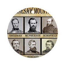 Kennesaw Mountain - Union Round Ornament