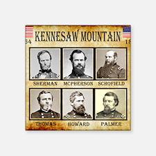 "Kennesaw Mountain - Union Square Sticker 3"" x 3"""