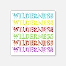 """Wilderness Square Sticker 3"""" x 3"""""""