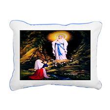 Our Lady of Lourdes 1858 Rectangular Canvas Pillow