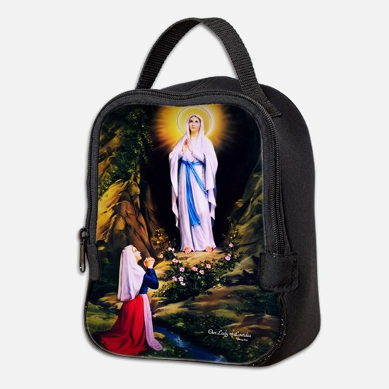 Our Lady of Lourdes 1858 Neoprene Lunch Bag