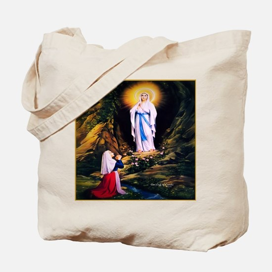 Our Lady of Lourdes 1858 Tote Bag