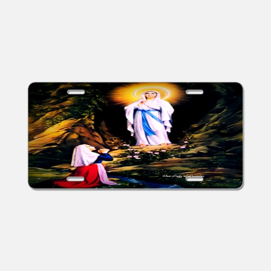 Our Lady of Lourdes 1858 Aluminum License Plate