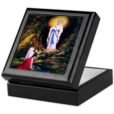 Our Lady of Lourdes 1858 Keepsake Box