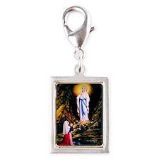 Our Lady of Lourdes 1858 Silver Portrait Charm