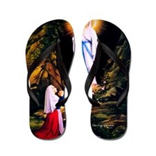 Our Lady of Lourdes 1858 Flip Flops