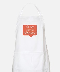 February due date BBQ Apron
