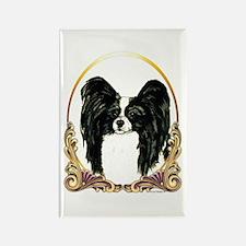 Papillon Christmas/Holiday Rectangle Magnet