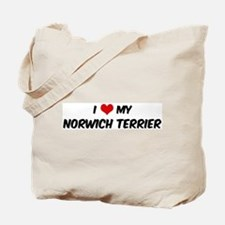 I Love: Norwich Terrier Tote Bag