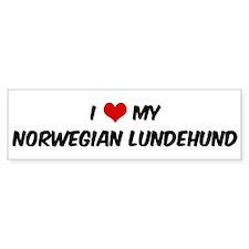 I Love: Norwegian Lundehund Bumper Bumper Sticker