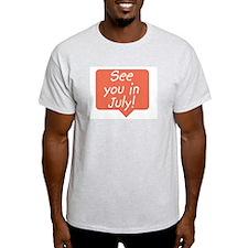 July due date Ash Grey T-Shirt