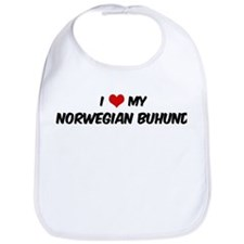 I Love: Norwegian Buhund Bib