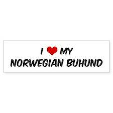 I Love: Norwegian Buhund Bumper Bumper Sticker
