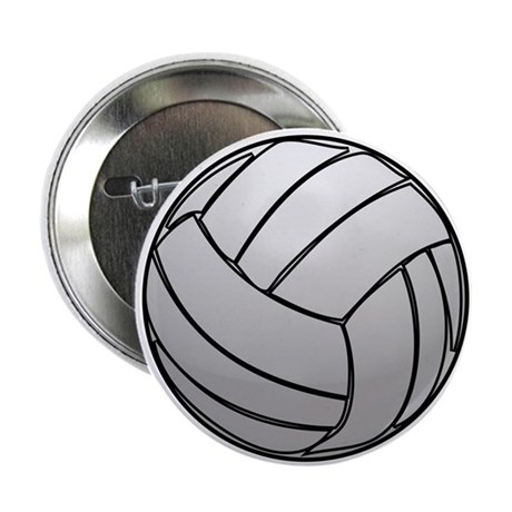 """Volleyball 2.25"""" Button"""