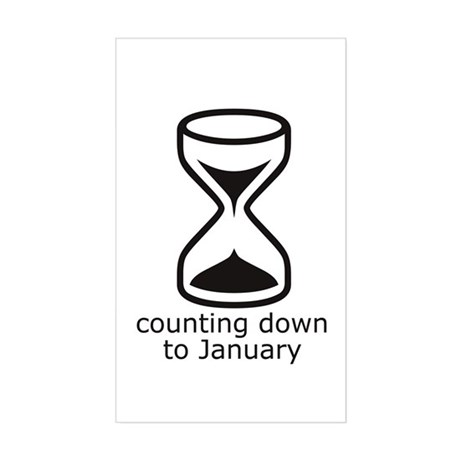 January due date (count down) Sticker (Rect.)